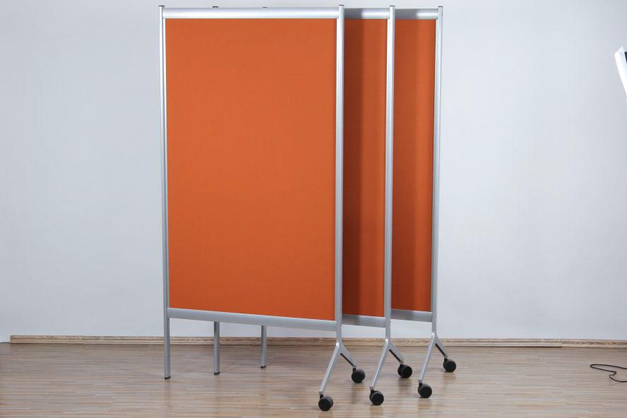 1x Sedus Stell Trenn Wand Segment Raumteiler auf Rollen Büro Pin ...