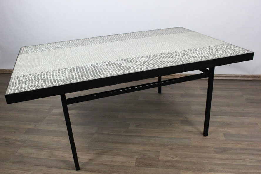 Alter couch tisch coffee table stein mosaik berthold for Couch 50er jahre stil