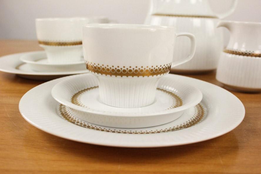 rosenthal kaffee service modulation tapio wirkkala porzellan gold rondell ebay. Black Bedroom Furniture Sets. Home Design Ideas