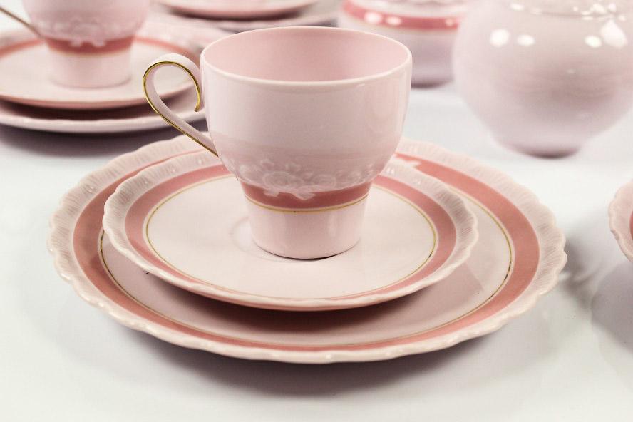 hutschenreuther kaffee service monique porcelaine rose 6 personen 22teilig ebay. Black Bedroom Furniture Sets. Home Design Ideas