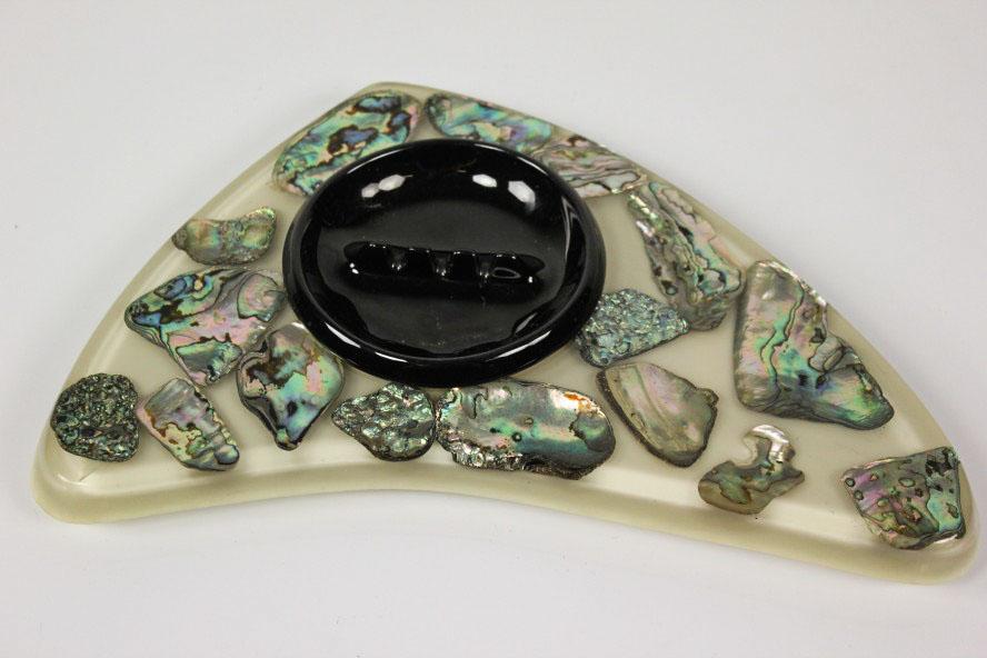 vintage aschenbecher halter abalone muschel wondermold hawaii 60er jahre. Black Bedroom Furniture Sets. Home Design Ideas