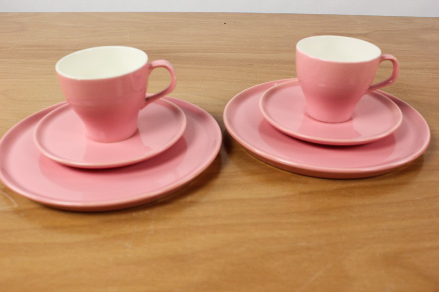2 kaffee gedecke melitta ascona geschirr pastell rosa porzellan service vintage ebay. Black Bedroom Furniture Sets. Home Design Ideas