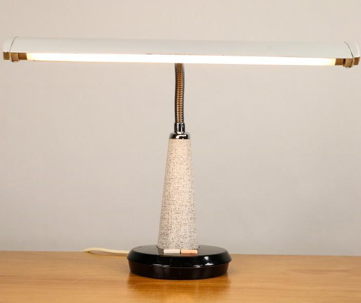 Alte NATIONAL Tisch Lampe Design Leuchte Vintage Desk Lamp