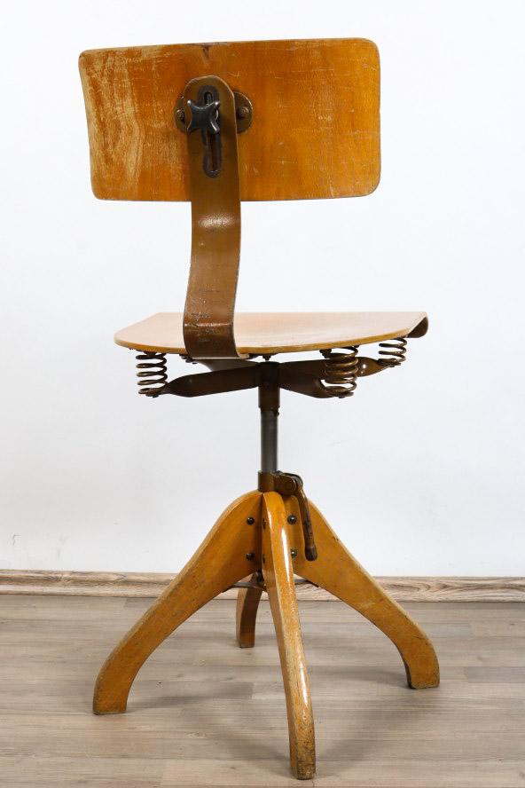 bauhaus dreh stuhl b ro werkstatt atelier h henverstellbar vintage 30er 50er ebay. Black Bedroom Furniture Sets. Home Design Ideas