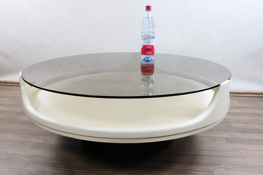 Alter Couch Tisch Opal ∅100cm Space Age Coffee Table 60er