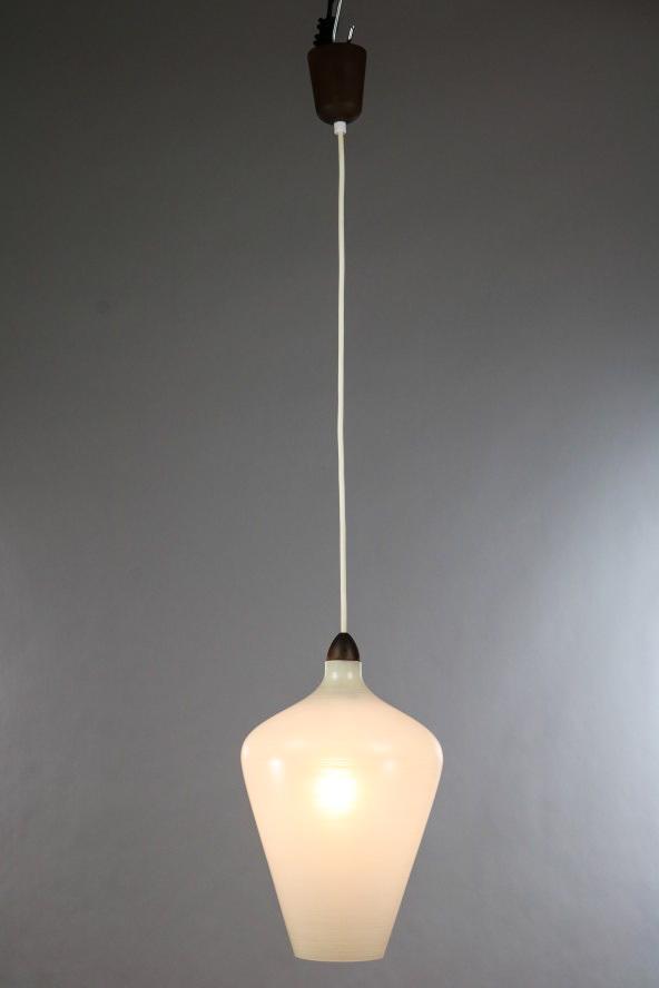 Alte Pendel Leuchte Teak Glas Lampe 50er Jahre Dansk Mid