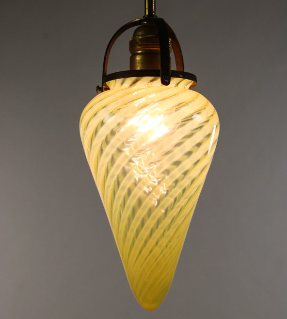 art deco stab pendel lampe murano spirale glas zapfen. Black Bedroom Furniture Sets. Home Design Ideas