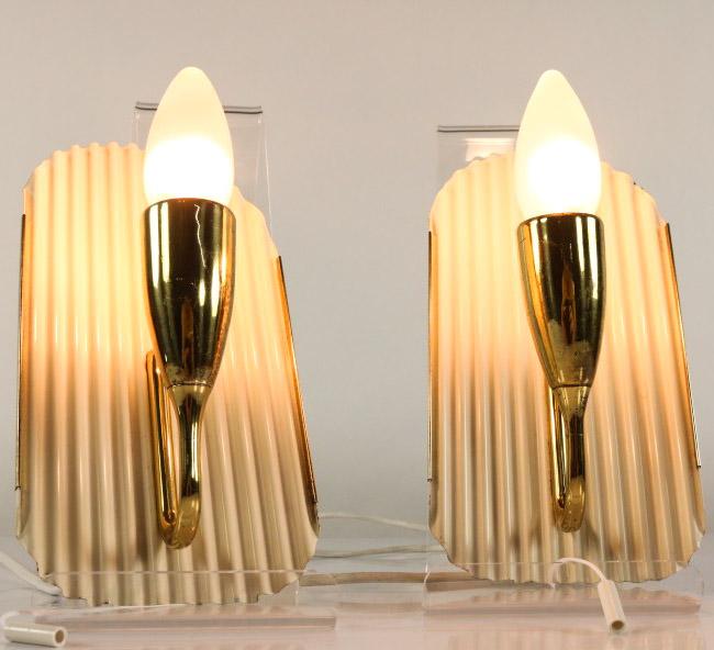 Wellblech Garage: Wand Lampen Paar Zugschalter Leuchten Messing Auf