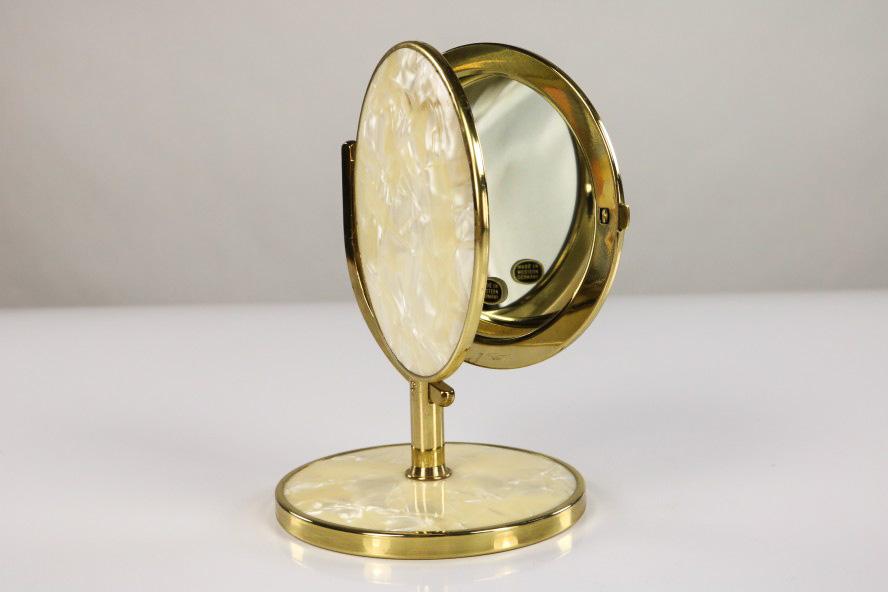alter kosmetik schmink tisch spiegel perlmutt design neuwertig 50er jahre. Black Bedroom Furniture Sets. Home Design Ideas