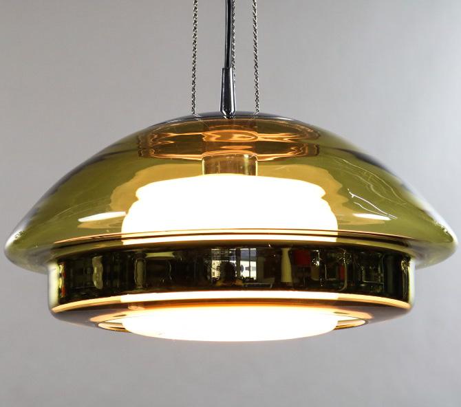 Peill & Putzler Pendel Leuchte Glas & Ketten Hänge Lampe