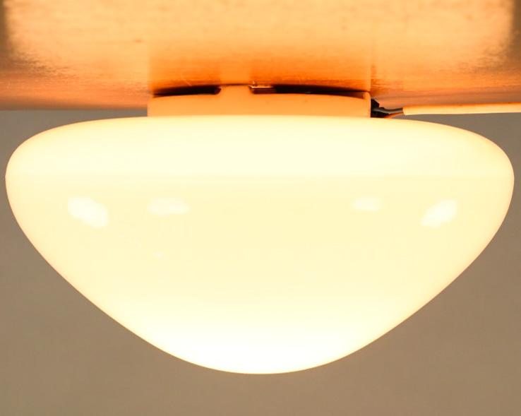 lindner decken leuchte wilhelm wagenfeld 25cm totalglas lampe 50er jahre ebay. Black Bedroom Furniture Sets. Home Design Ideas